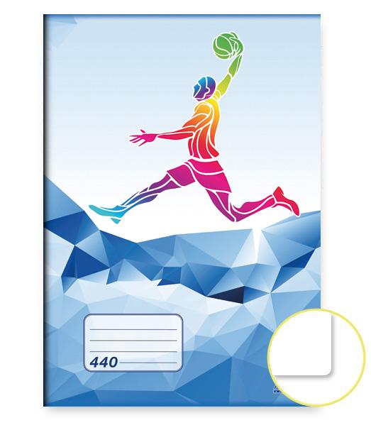 Zošit 440 • 40 listový • nelinkovaný • ŠPORT Basket modrý