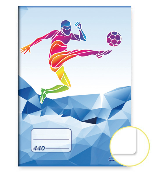 Zošit 440 • 40 listový • nelinkovaný • ŠPORT Futbal modrý
