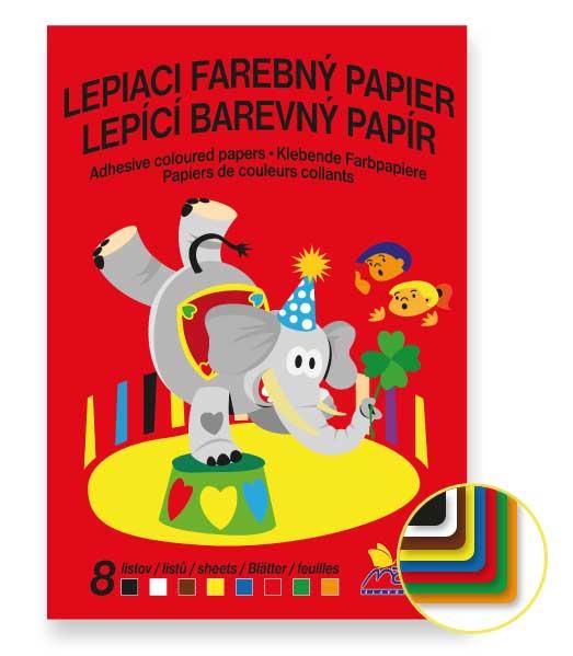 Lepiaci farebný papier • LFP8 • 8 listov • CIRKUS
