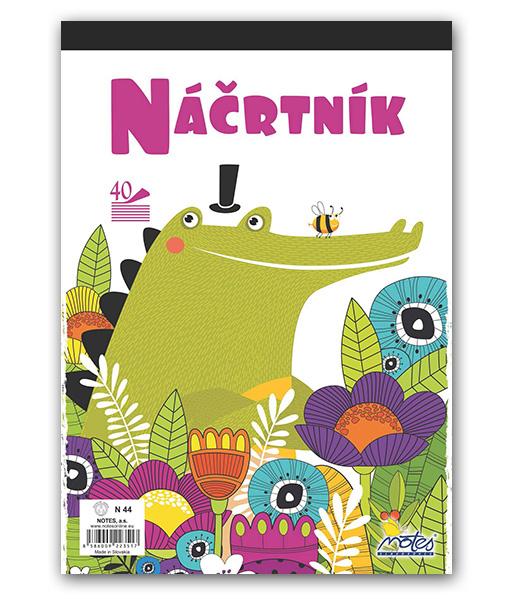 Náčrtník N44 • 40 listový • Krokodíl
