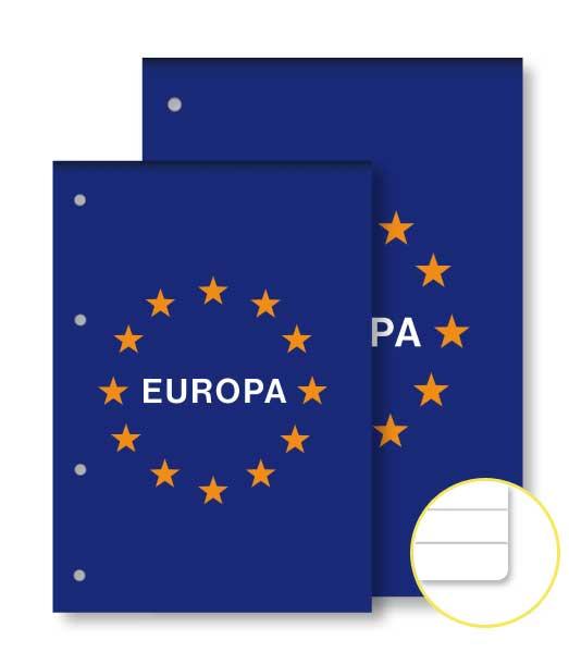 Poznámkový blok • 50 listový • linkovaný 8 mm • EURÓPA