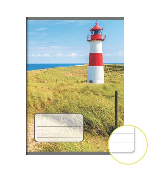 Zošit 544 EXTRA – 40 listový – linkovaný 8 mm s okrajom – Maják