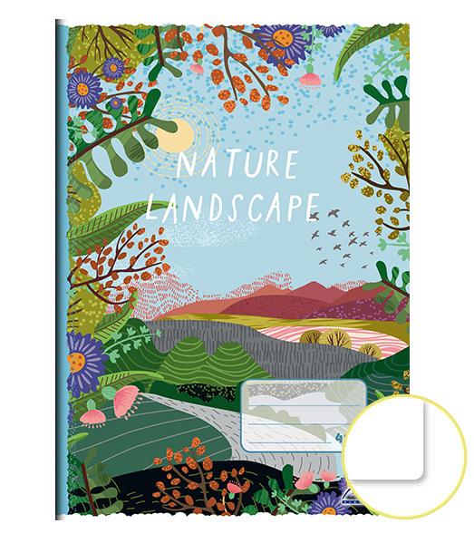Zošit 420 • A4 • 20 listový • nelinkovaný • Nature Landscape