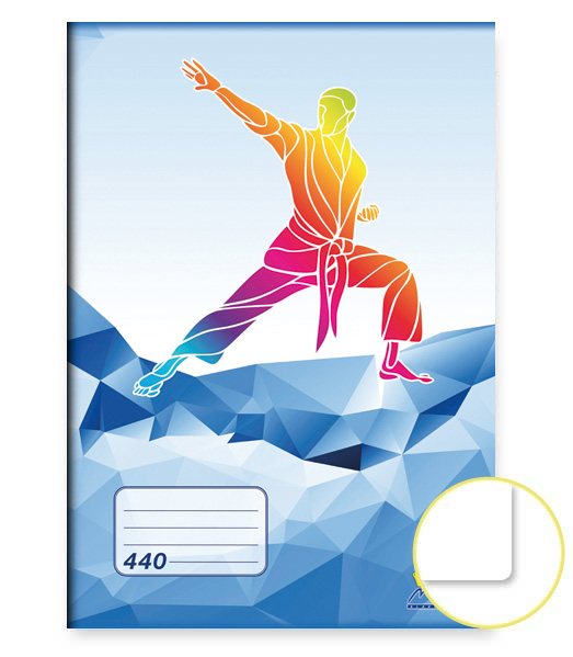 Zošit 440 • 40 listový • nelinkovaný • ŠPORT Karate modrý