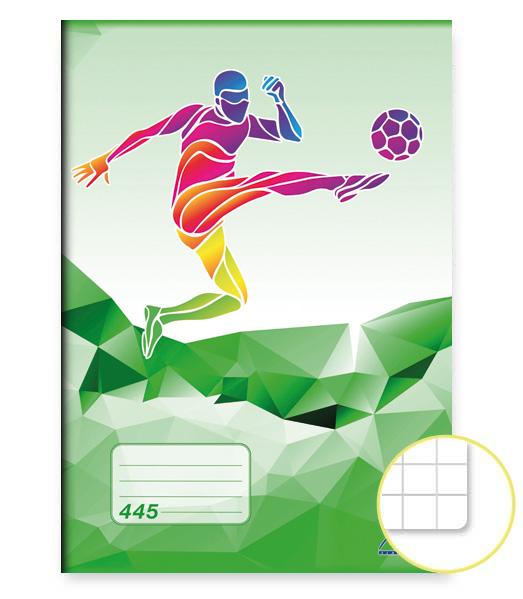 Zošit 445 • 40 listový • štvorčekovaný 5×5 mm • ŠPORT Futbal zelený