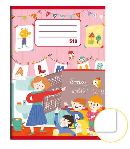 Zošit 510 • 10 listový • nelinkovaný • Škola