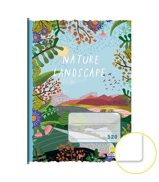 Zošit 520 • A5 • 20 listový • nelinkovaný • Nature (TULENE)