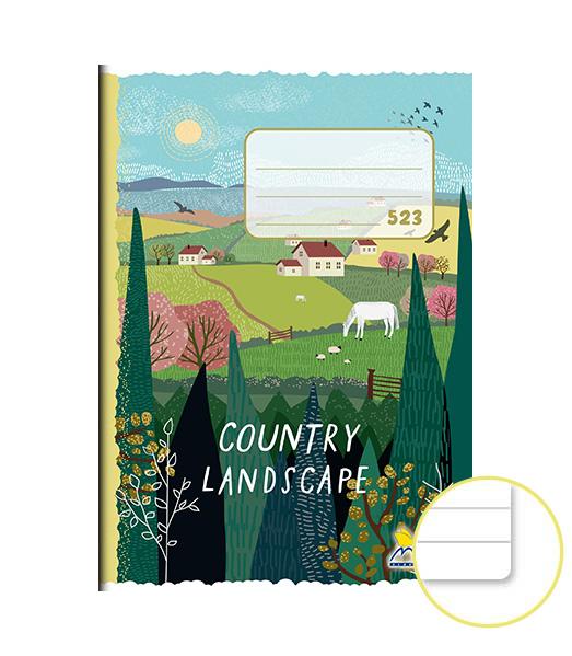 Zošit 523 • 20 listový • linkovaný 12 mm • Country Landscape