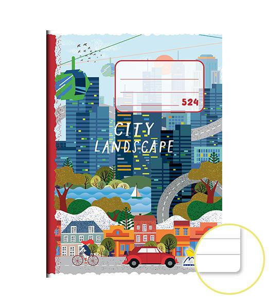 Zošit 524 • A5 • 20 listový • linkovaný 8 mm • City Landscape