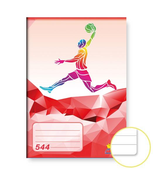 Zošit 544 • 40 listový • linkovaný 8 mm • ŠPORT Basket červený