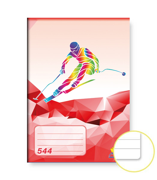 Zošit 544 • 40 listový • linkovaný 8 mm • ŠPORT Lyžovanie červený