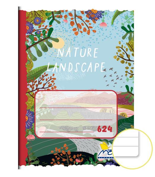 Zošit 624 • 20 listový • linkovaný 8 mm • Landscape