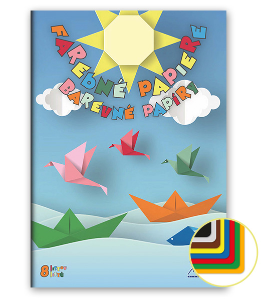 Farebný papier • FP8 • 8 listov • Loďky