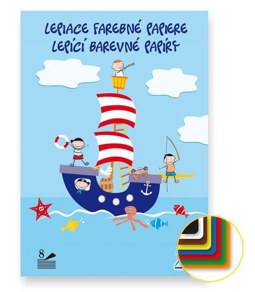 Lepiaci farebný papier • LFP8 • 8 listov • Námorníci