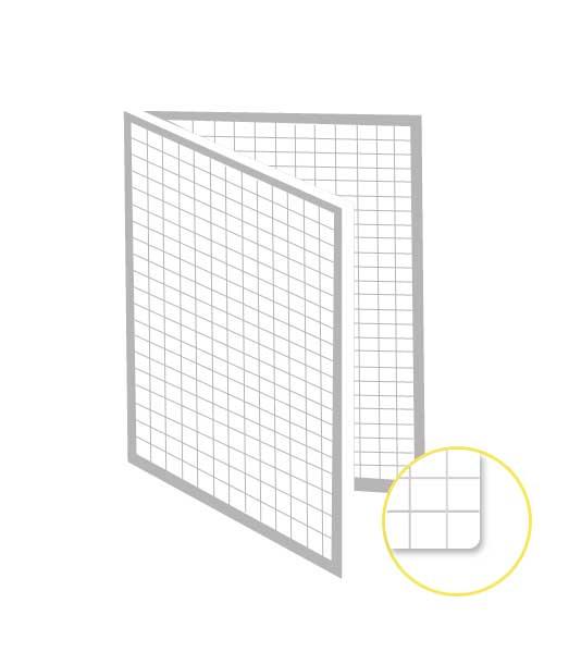 Skladaný dvojhárok • 200 listov • štvorčekovaný 5×5 mm