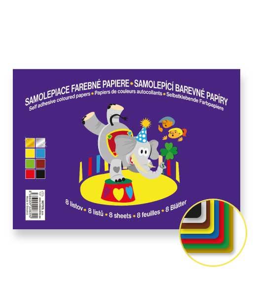 Samolepiaci farebný papier • SLFP8 • 8 listov • CIRKUS