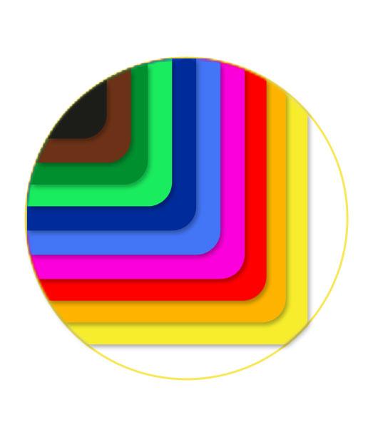 Farebný papier • FP50mix/125 • 10 farieb á 5 ks • 50 kusov