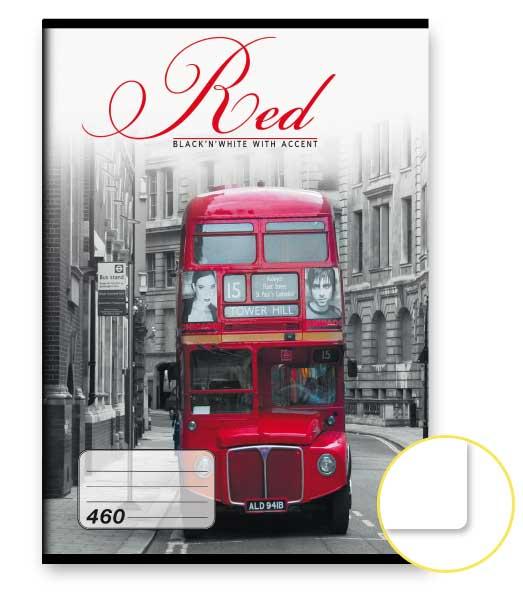 Zošit 460 • 60 listový • nelinkovaný • Red