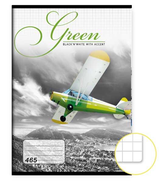 Zošit 465 • 60 listový • štvorčekovaný 5×5 mm  • Green