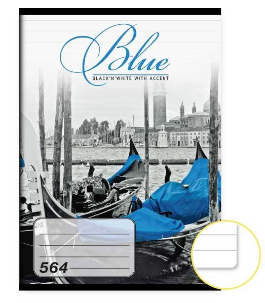 Zošit 564 • 60 listový • linkovaný 8mm • Blue