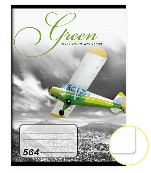 Zošit 564 • 60 listový • linkovaný 8mm • Green