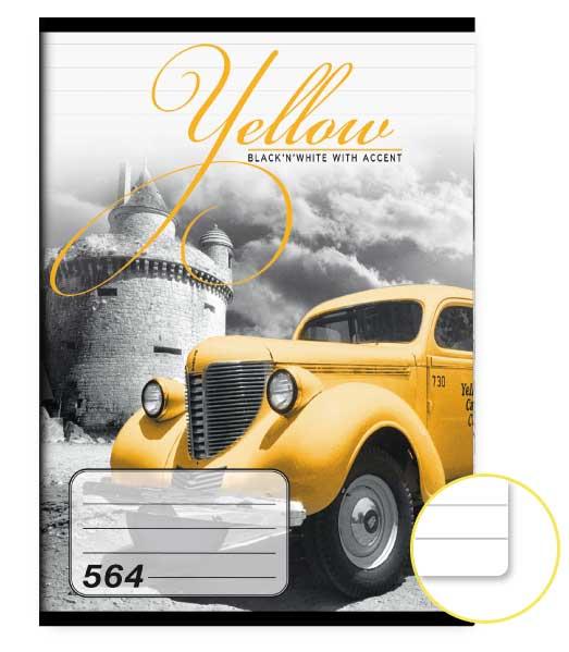 Zošit 564 • 60 listový • linkovaný 8mm • Yellow