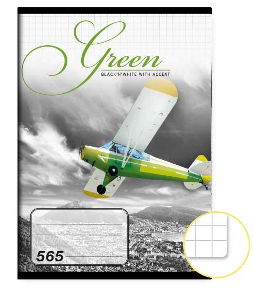 Zošit 565 • 60 listový • štvorčekovaný 5×5 mm  • Green