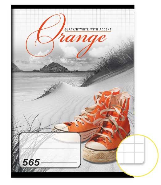 Zošit 565 • 60 listový • štvorčekovaný 5×5 mm  • Orange