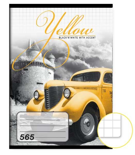 Zošit 565 • 60 listový • štvorčekovaný 5×5 mm  • Yellow