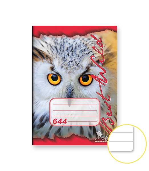 Zošit 644 • 40 listový • linkovaný 8 mm • ZOO Sova červený
