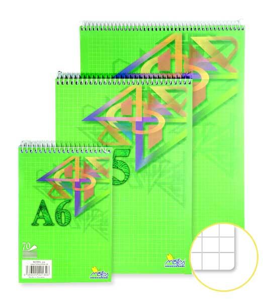Špirálový blok • 70 listový • štvorčekovaný 5×5 mm • ORNAMENT