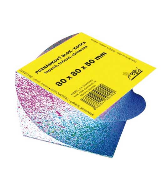 Poznámková kocka T808050/B • z bieleho papiera • točená