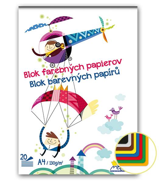 Blok FP42 • farebných papierov • 20 listový • Vrtulník