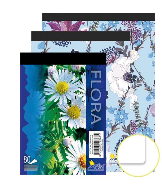 Poznámkový blok • 80 listový • nelinkovaný • Kvety