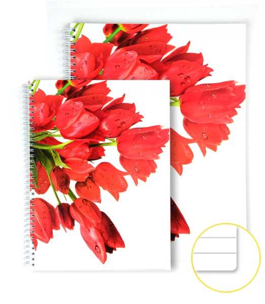 TW blok EXTRA • 80 listový • linkovaný • Tulipány