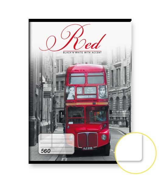 Zošit 560 • 60 listový • nelinkovaný • Red