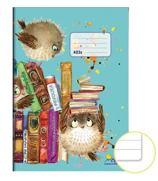 Zošit 423x • A4 • 20 listový • špeciálne linkovanie • Učebnice