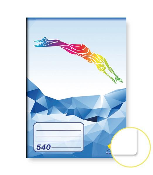 Zošit 540 • 40 listový • nelinkovaný • ŠPORT Plávanie modrý