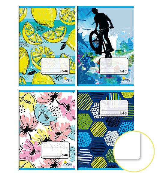Zošit 540 • 40 listový • nelinkovaný • MIX dizajnov