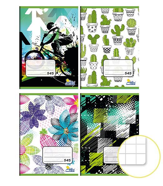 Zošit 545 • 40 listový • štvorčekovaný 5×5 mm • MIX dizajnov