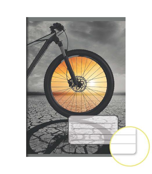 Zošit 544 EXTRA – 40 listový – linkovaný 8 mm s okrajom – Cyklo